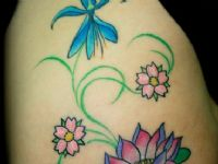 Flores-flowers-color-filigrana-enredadera-tattoo-tatuaje-amor-de-madre-zamora