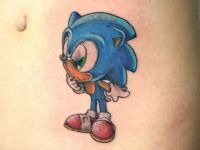 TATUAJE SONIC A COLOR