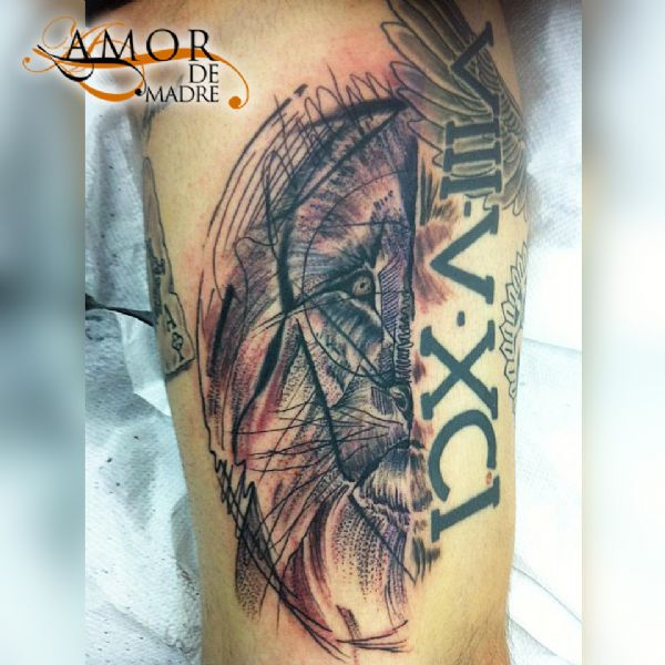 Leon-lion-animal-tattoo-tatuaje-amor-de-madre-zamora