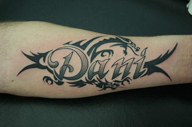 El Nombre De Carlos Tatuaje En Brazo Tribal Tattoo