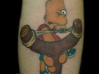 TATUAJE COMIC BART SIMPSON